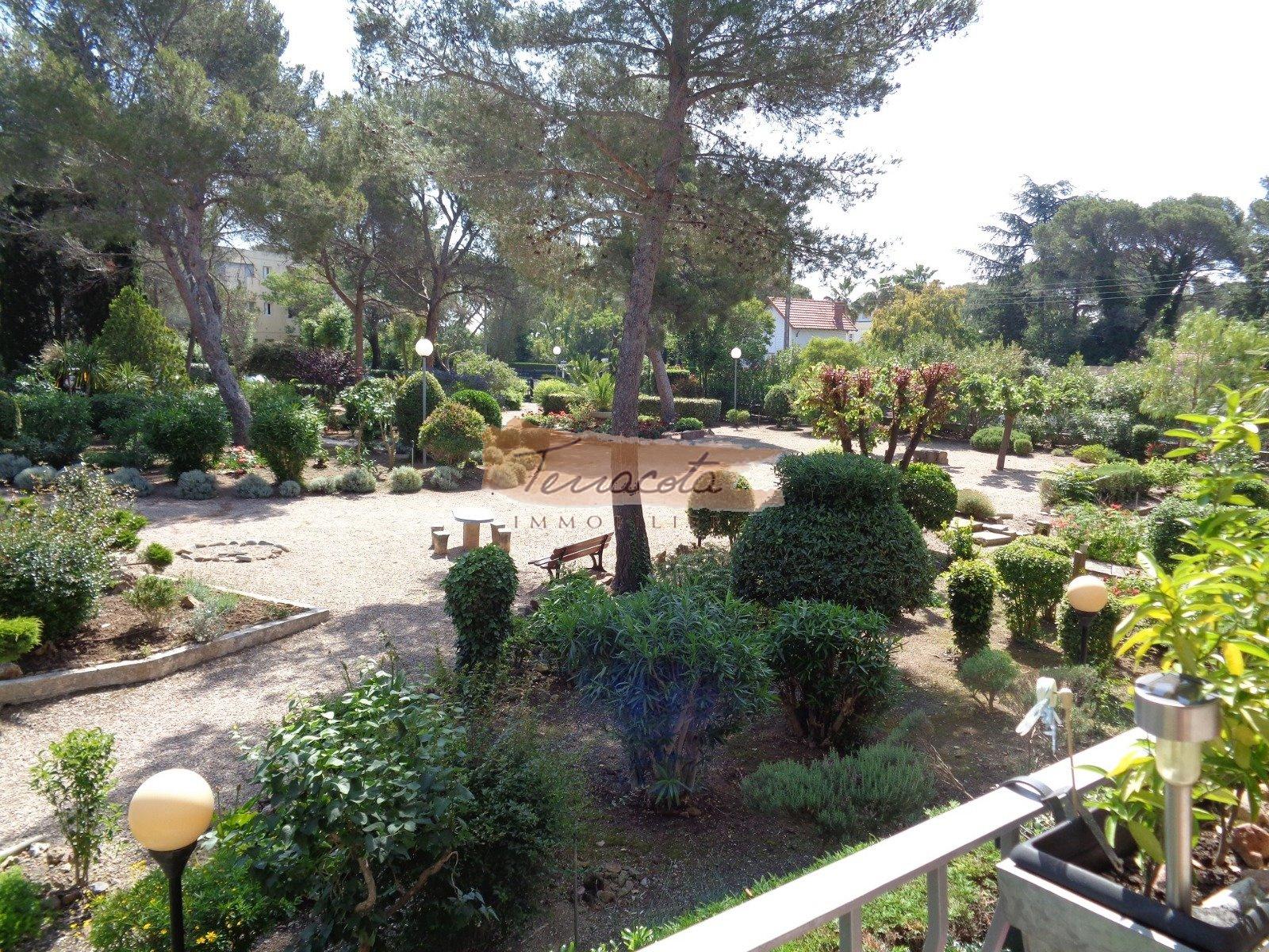 vue de la terrasse : parc