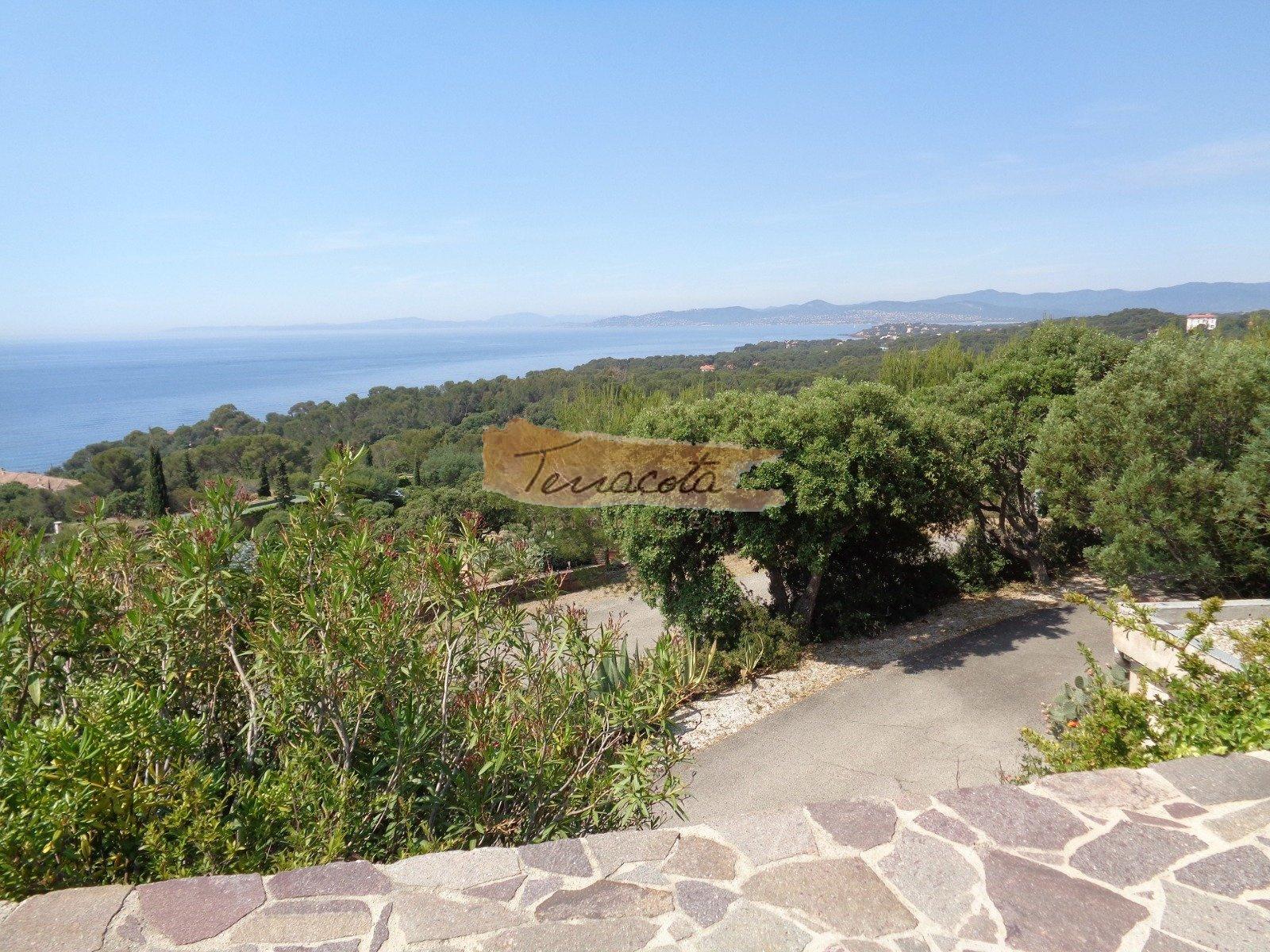 vue de la terrasse , mer