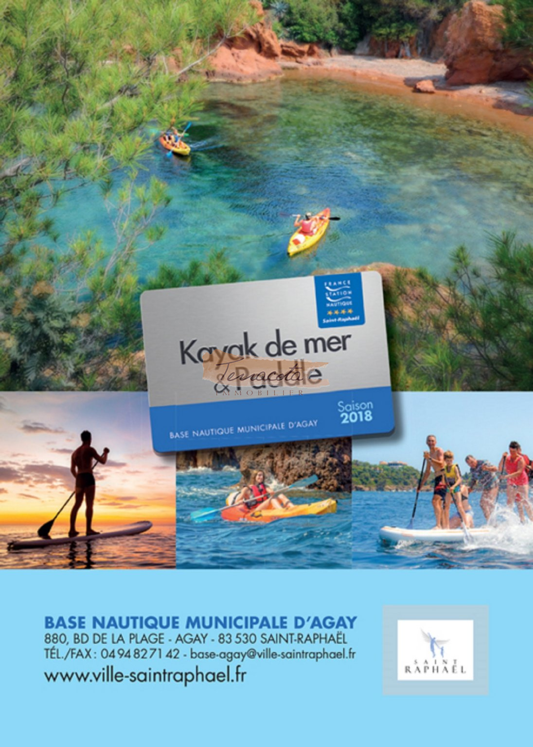centre nautique d'agay, location paddle, kayak etc